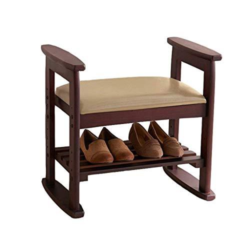 Liutao Schoenenrek voor schoenen, voetensteun in Amerikaanse stijl voor landelijke stijl, schokdemper, gang, bank van hout, organizer, duurzaam