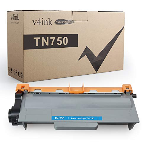 V4INK Compatible Toner Cartridge Replacement for Brother TN-750 TN750 TN-720 High Yield Toner Black for Brother hl-5470dw hl-5470dwt hl-6180dw hl-6180dwt mfc-8710dw mfc-8950dw Printer, 1 Pack