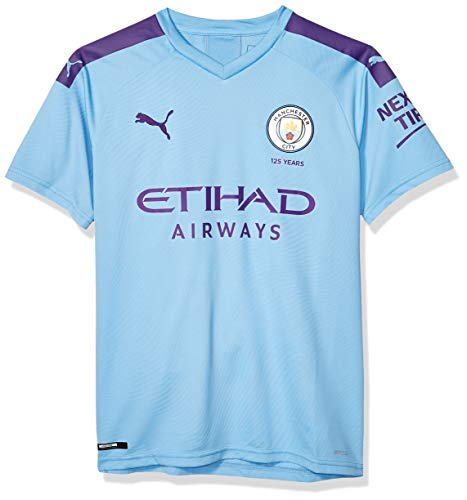 PUMA Youth Manchester City Licensed Replica Jersey 2019-2020, Large, Home