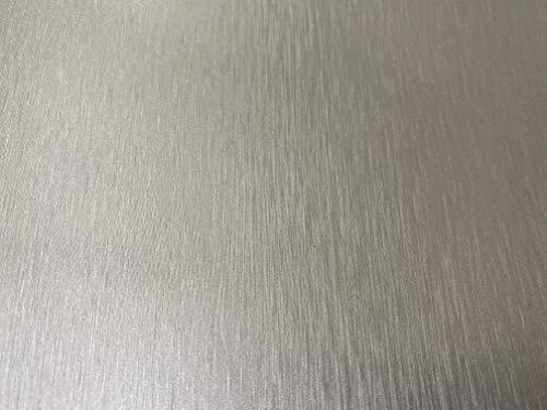 SilberChrom gebürstet Folie Selbstklebend für Auto PKW KFZ Folierung auch Leisten Dekorleisten - 37,5cm x 1m oder 18,5cm x 4m (37,5cm x 1m)