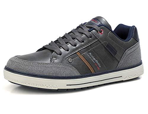ARRIGO BELLO Zapatos Hombre Vestir Casual Zapatillas Deportivas Transpirables Sneaker Caminar Correr Cómodo Casuales Moda Negocio Talla 41-46 (Oscuro, Numeric_42)