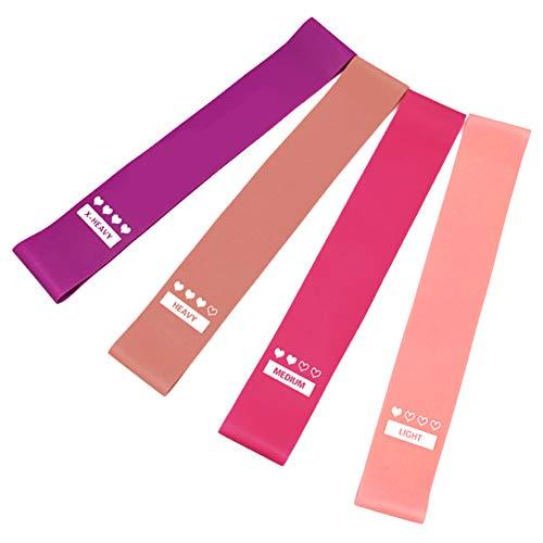 TOMSHOO Juego de bandas de bucle de resistencia de 4 piezas con deslizadores de núcleo de doble cara de 2 piezas para entrenamiento de yoga en el gimnasio en casa