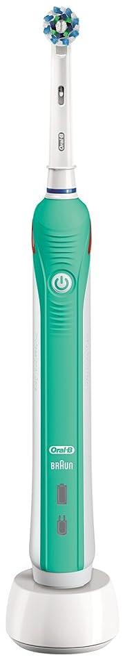 ナラーバー複雑でない普通のブラウン オーラルB 電動歯ブラシ PRO 1000 D205132M GR グリーン