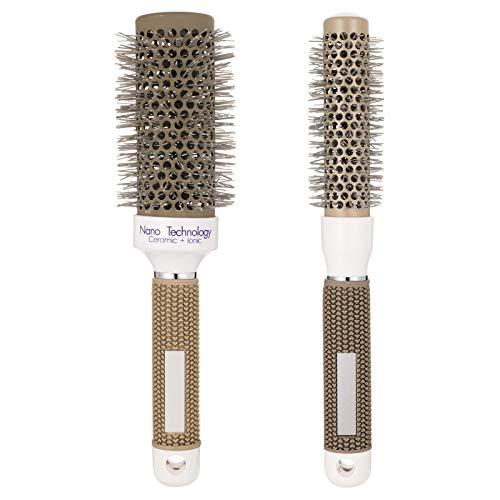 Firtink 2 Stück Haarbürste Set RundbrsteRunde Haarbürste für Haar-Styling, Trocknen, Curling, zum Richten
