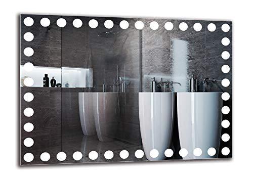 LED Spiegel Premium - Spiegelmaßen 70x50 cm - Badspiegel mit LED Beleuchtung - Wandspiegel - Lichtspiegel - Fertig zum Aufhängen - ARTTOR M1ZP-57-70x50 - Lichtfarbe Weiß kalt 6500K - ARTTOR