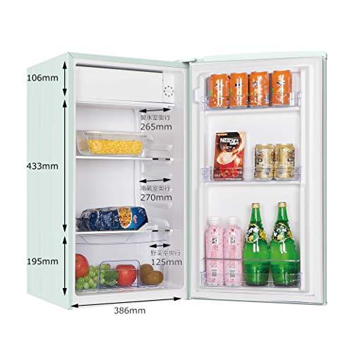 TOHOTAIYO小型冷蔵庫1ドアレトロ冷蔵庫85LライトグリーンRT-185G