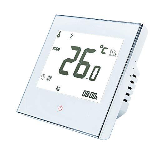 Termostato programable para el hogar para sistema de calefacción por suelo radiante Termostato inteligente de solo calor con pantalla táctil para sistema de calefacción de suelo 95-240V