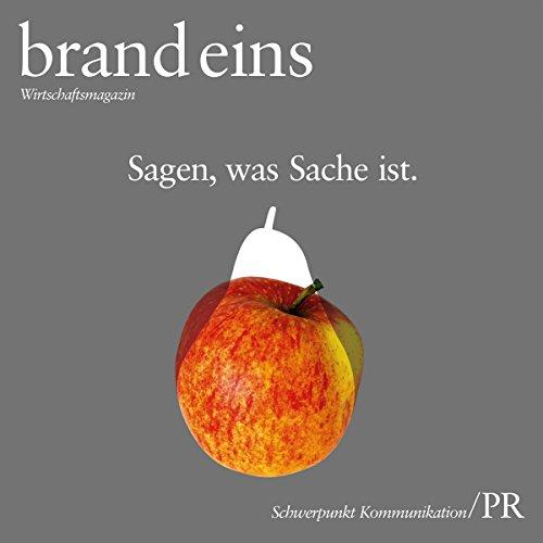 Propaganda! (brand eins: Kommunikation/PR) Titelbild