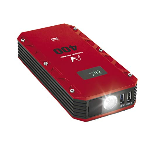 GYS GYS-025882-Nomad 400 Nomad Power 400-Booster Li-12V-Incluye Funda y Accesorios