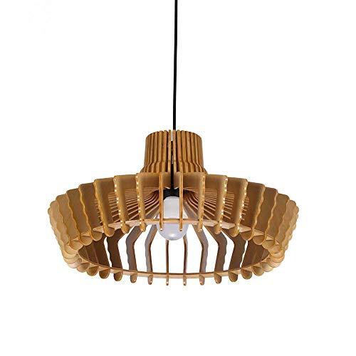 TAIDENG Modelado creativo Hecho a mano de madera araña de madera Dormitorio de la casa Sala de estar Lámpara de noche Southeast Asian Style 35 cm Diámetro lámpara colgante E27 Fuente de luz Iluminació