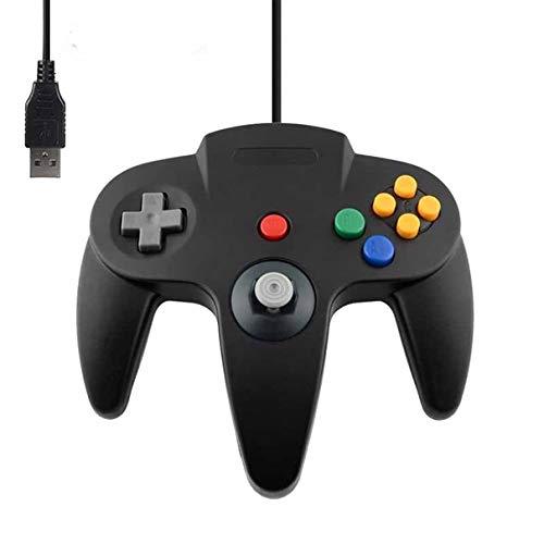 DARLINGTON & Sohns Schwarzer Controller für Nintendo 64 N64 USB Anschluss PC Computer Joystick Schwarz Gamepad Joypad