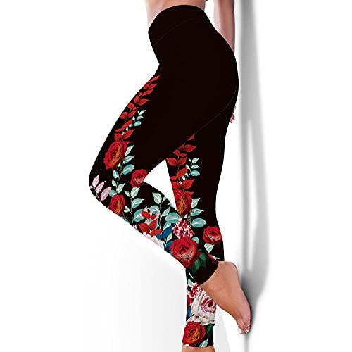ArcherWlh Leggings Mujer,Europa y los Estados Unidos impresión 3D Sexy Deportes Medias Pantalones Caderas Hembra rápido Fitness Yoga Ropa Alta Cintura en Forma de Yoga pantalones-Yjck-44_L