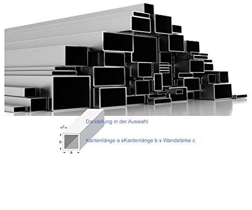 Quadrat- und Rechteckrohr Vierkantrohr Edelstahl Länge 1 m +/- 2mm (25x25x2, ungeschliffen)