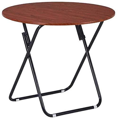 HHTD Mesa Final, Mesa Plegable Impermeable Pequeña Mesa de café Sofá Mesa Auxiliar para Sala de Estar Balcón y Oficina (Marrón) (Color : Large)