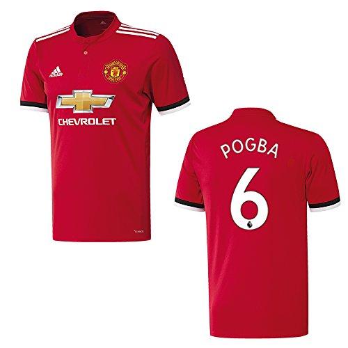adidas Manchester United Camiseta Home Hombre 2018–Pogba 6, Medium