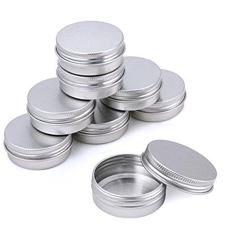 KBNIAN Latas de Aluminio, 30 Piezas de Bote de Aluminio Redondo Frasco de Aluminio Vacío Tarros de Aluminio con Tapa para Almacenar Cosméticos Lociones Especias Dulces Té o Regalo Pequeño(30ml, Plata)