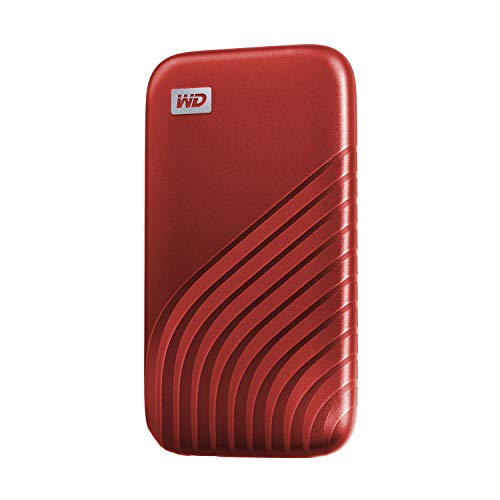 ウエスタンデジタル WD ポータブルSSD 1TB レッド 【PS5 メーカー動作確認済】 USB3.2 Gen2 My Passport SSD 最大読取り1050 MB/秒 外付けSSD /5年保証 WDBAGF0010BRD-WESN