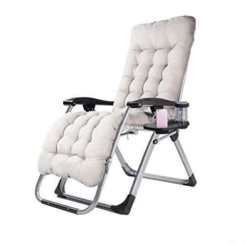 Garden Chair Folding Recliner Outdoor Adjustable Sun Lounger Zero-Gravity Seat