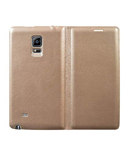 Coverage Leather Flip Cover for Samsung Galaxy Note Edge - Golden