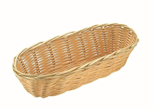 APS 30282 Brood- en fruitmand, ovaal 21 x 10 cm, H: 6 cm, polypropyleen, beige, BASIC-