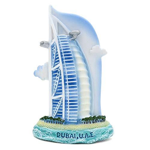 Burj Al Arab Jumeirah; Dubai, Niederlande 3D handgemaltes Harzmagnet Burj Khalifa Dubai Mall Sheikh Zayed Grand Mosque Center Dubai-Brunnen Abu Dhabi