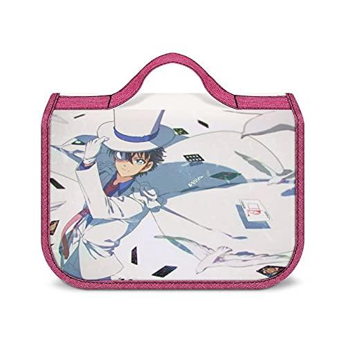 Detective Conan Kaito Kuroba - Neceser portátil de gran capacidad, bolsa de almacenamiento de cosméticos, unisex, resistente al agua, con estilo, súper compartimentos