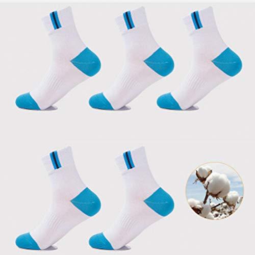 LAFDWZ 5 paar herensokken casual herenmode sokken in de tube zweetafvoerend ademend deodorant heren casual persoonlijkheid sokken