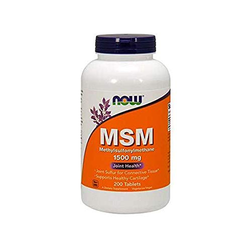 NOW Supplements, MSM (Methylsulfonylmethane) 1,500 mg, Supports Healthy Cartilage*, Joint Health*, 200 Tablets