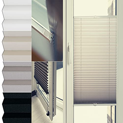 Henkodeco - Estor plisado en la ventana (50 x 80 cm), color blanco
