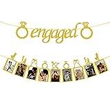 Engagement Wedding Decorations, Gold Engaged...
