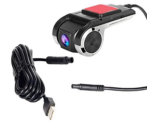 LONGRUI Mini Grabadora De Coche, Grabadora De Conducción, Monitor De Estacionamiento, Grabadora De Conducción Dual, Cámara De Coche 1080P, Grabación En Bucle, para Coche/SUV/Camioneta,32g