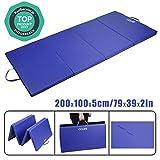 CCLIFE 200x100x5cm Bleu Tapis de Gymnastique Epais - Matelas Gymnastique - Tapis Sol Gymnastique - Tapis Gymnastique Pliable, Couleur:Bleu