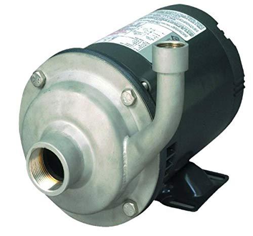 AMT Pump 5485-98 High Volume Straight Centrifugal Pump, Stainless Steel, 1-1/2 HP, 1...