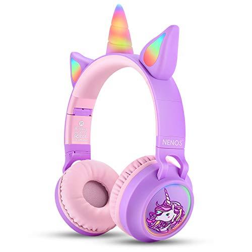 41pmrOUuAiL. SL500  - Nenos Kids Headphones Children's Headphones for Kids Toddler Headphones Limited Volume (Red)