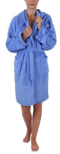 Betz Kinder Bademantel Style mit Kapuze Größen 128-164 Kinderbademantel Farben hellblau Größe 152
