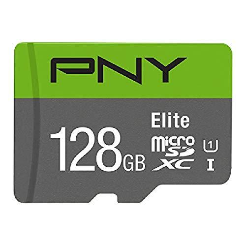 PNY Cartão de memória 128 GB Elite Class 10 U1 MicroSD (P-SDUX128U185GW-GE), verde