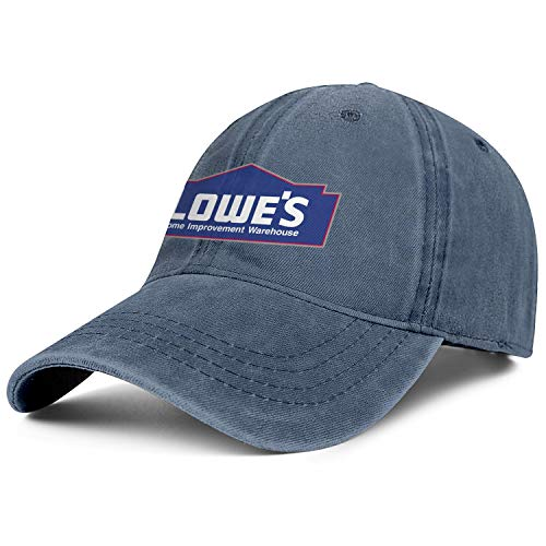 chenhou Unisex Lowe's Home Logo Hat Adjustable Fitted Dad Baseball Cap Trucker Hat Cowboy Hat