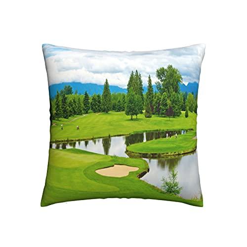 Xiaoxian Funda de almohada decorativa para el hogar, diseño de campo de golf, 3 fundas de almohada para sofá, cama, coche, etc