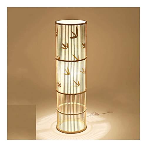 Rotan staande lamp staande lamp van hout woonkamer slaapkamer huis decoratie Chinese LED vloer licht rotan Zuidoost-Azië Retro vloerlamp 100cm