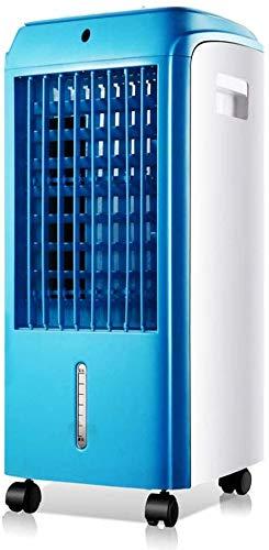 zhangchao Air Cooler evaporazione Coperta umidificatore e Ventilatore con Swing e Ruote, Regolabile di velocità del Vento, Portable 58 Centimetri Piccolo condizionatore d'Aria,Blu