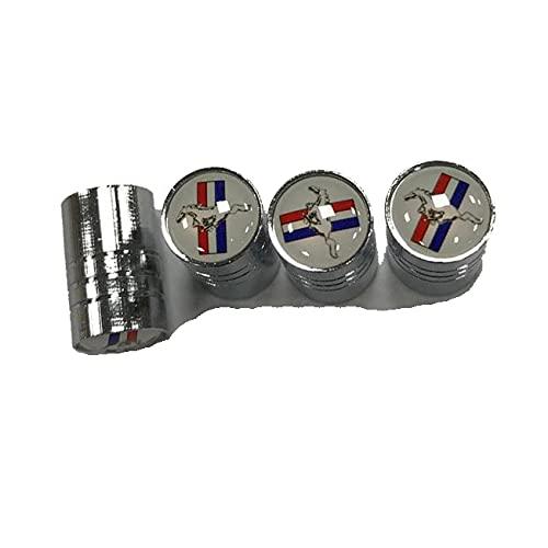 4 Piezas Neumático Automóvil Tapas Para Válvulas, para Ford Mustang Antipolvo Resistente Agua Decoración Tapas VáLvulas de Coche Accesorios