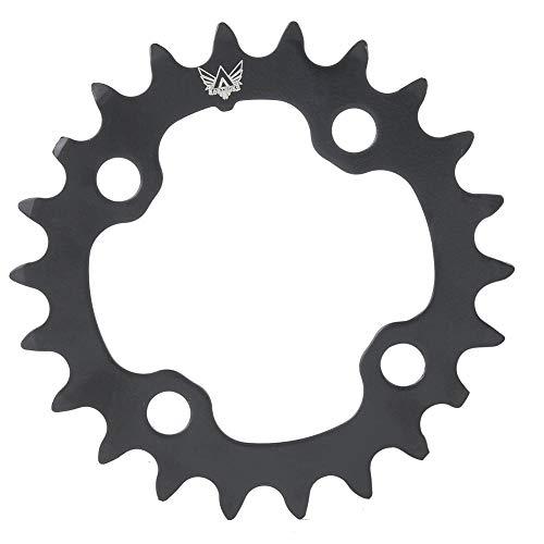 Jacksking Fahrrad-Kettenblatt, 22 t Runde Carbon Stahl Kettenblatt Fahrradkomponenten für BCD 104 mm 9-Gang-Fahrrad