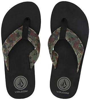 Volcom Men s Daycation Flip Flop Sandal dark camo 11 D US