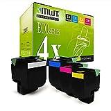 4X MWT XXL Toner für Lexmark CX 310 410 510 dhe de dthe dte e DN n ersetzt 80C2SK0 802S