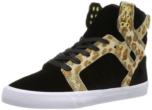 Supra Damen Womens Skytop High-top, Schwarz (Black/Cheetah - White BCT), 36 EU