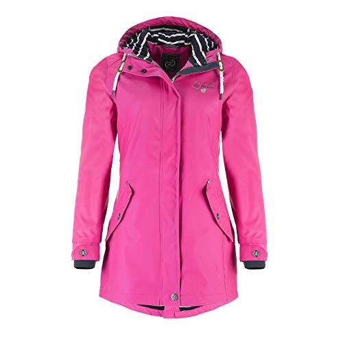 Dry Fashion Damen-Regenmantel Kiel Farbe Navy, Größe 42