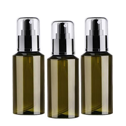 Botella de Spray 100ml, zedela pulverizador plastico Vacío, Botellas y contenedores de Viaje para Perfumes, Cosméticos, Agua y Otros líquidos