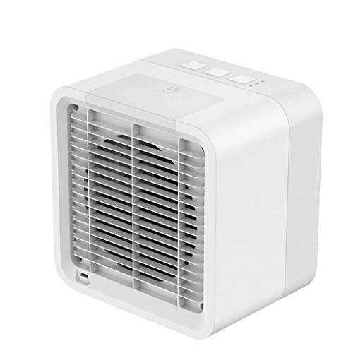 LEEDY Mini Air Cooler, condizionatore portatile, mini dispositivo di condizionamento per raffreddare il vento, ventola di raffreddamento con presa USB bianco Taglia Unica