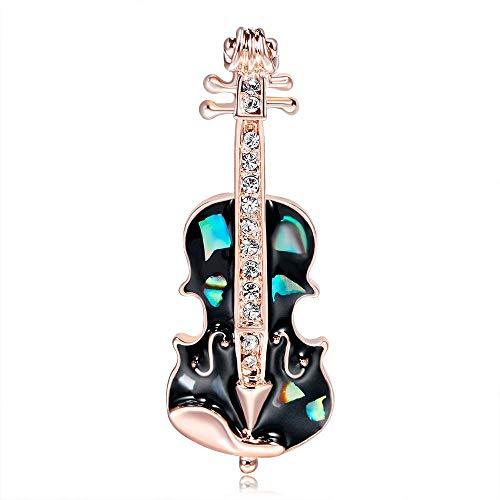 Olydmsky Brosche Gitarre-Violine-Brosche bemalte Schale Brust Schamlippen Damen Brosche