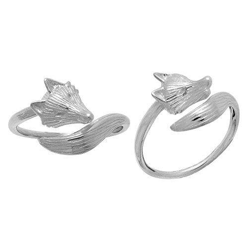 Boma Jewelry Sterling Silver Fox Ring, Size 9